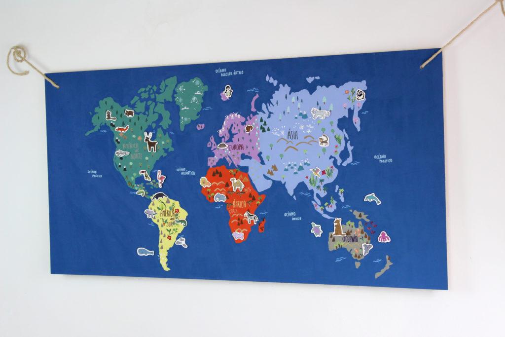 tutorial mapamundi diy