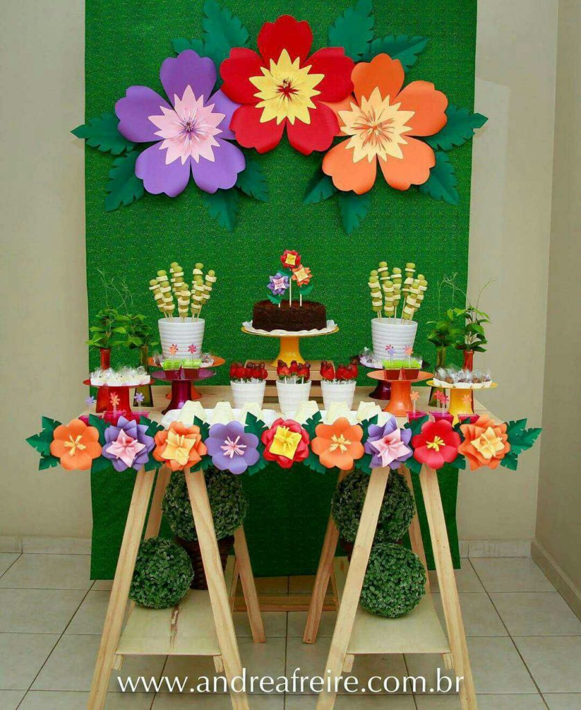 34 sencillas ideas de flores de papel para decoraci n top - Como decorar con plantas ...