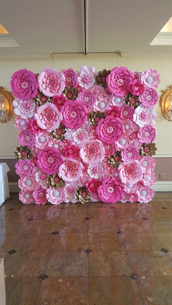 34 sencillas ideas de flores de papel para decoracin TOP