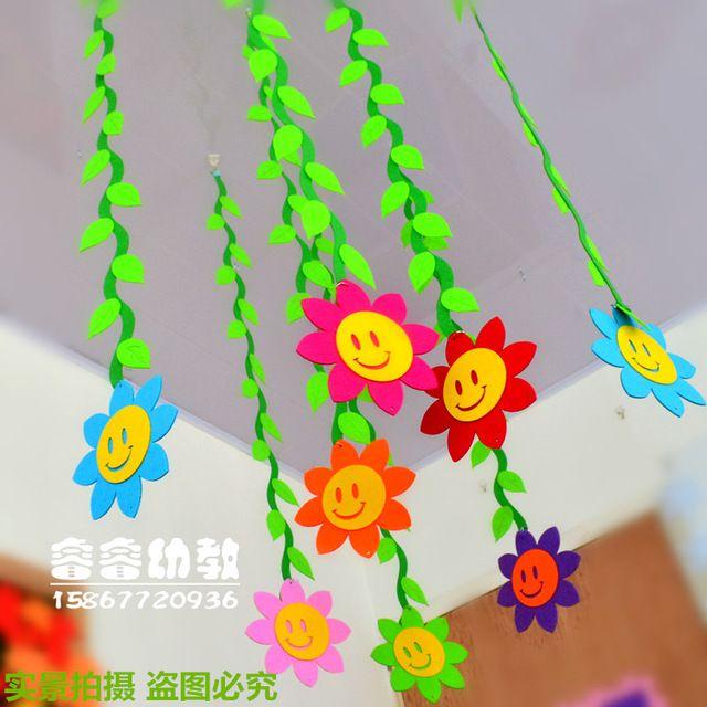 flores de papel colgantes para decorar