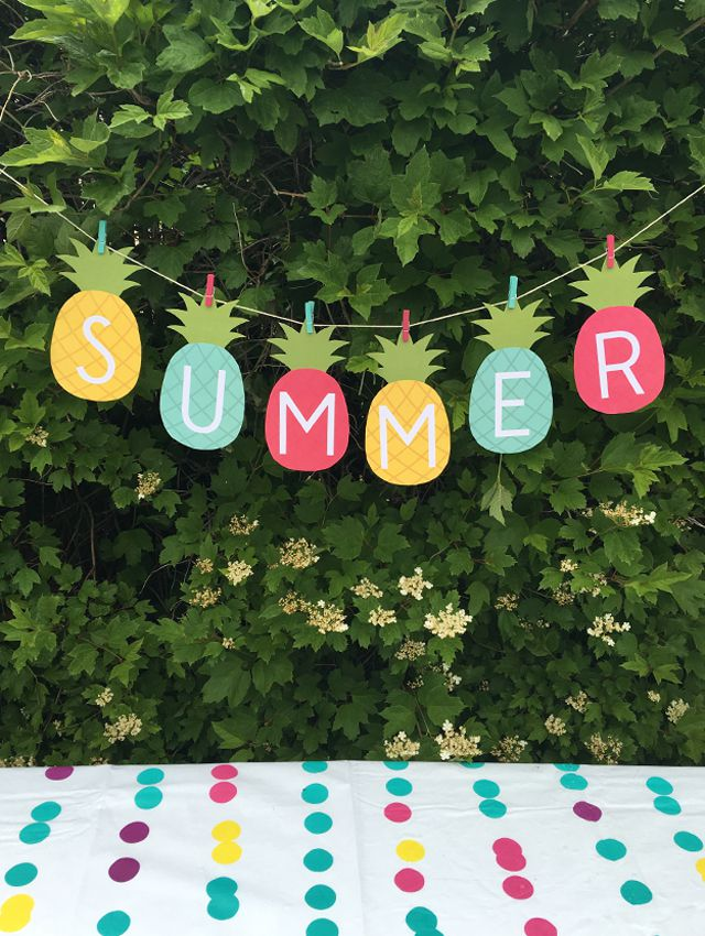 Manualidades para fiesta de verano top 2018 uma for Decoracion verano para jardin infantil