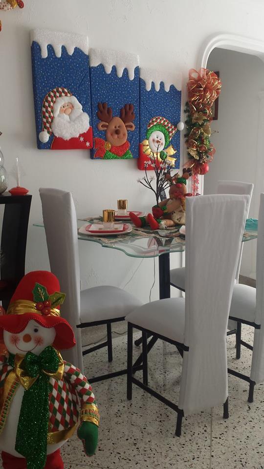 30 ideas fant sticas de manualidades de fieltro para - Decoracion navidena fieltro ...