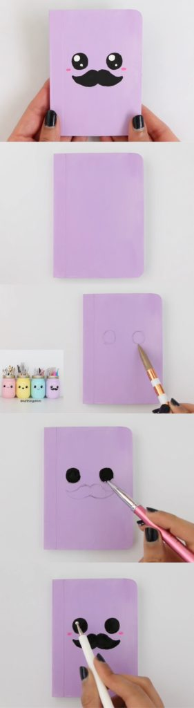manualidades kawaii sencillas para decorar libretas