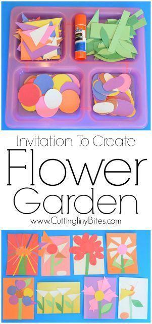 Flors de paper per a nens de pre-escolar