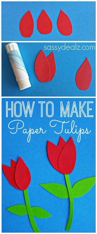 Tulipes de paper per a nens