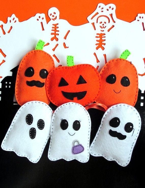 Fantasmas y calabazas de manualidades para halloween
