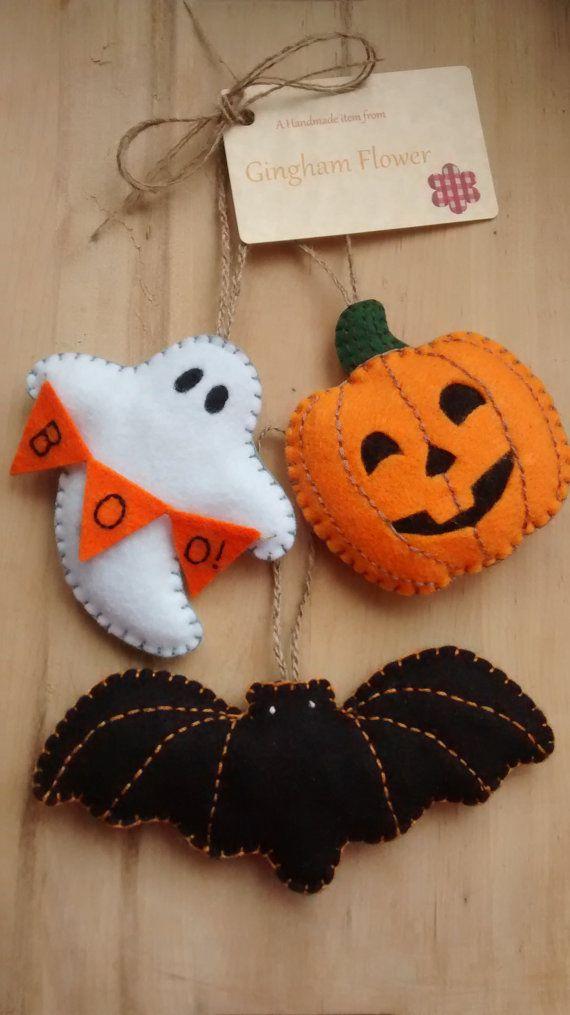 20 ideas de manualidades con fieltro de halloween top - Calabazas de halloween manualidades ...