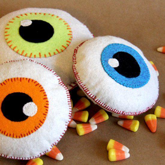 Manualidades de halloween con ojos