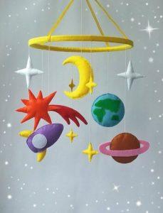 Móvil infantil de planetas