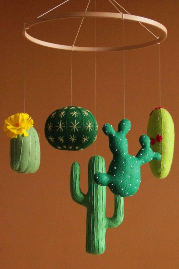 Cactus de fieltro para bebés
