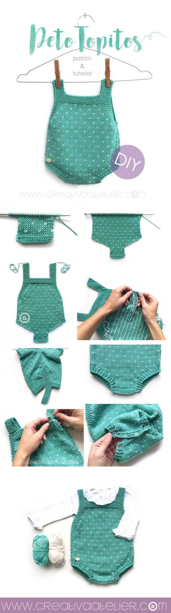 ropa de corchet para bebé paso a paso