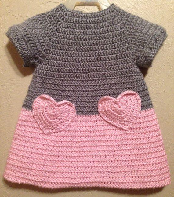vestido de bebé de crochet