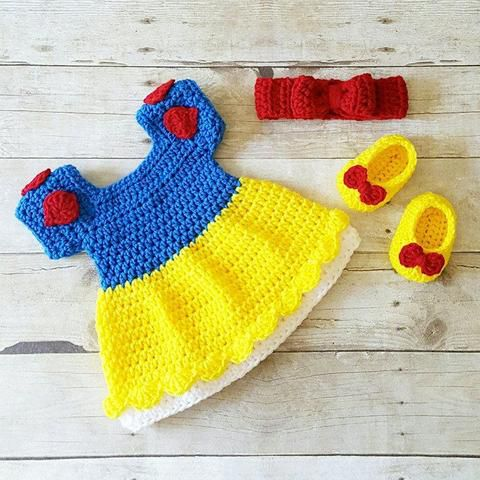 Vestidos disney de crochet