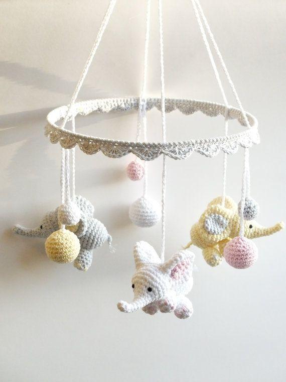 Decoración de habitaciones para bebés de crochet