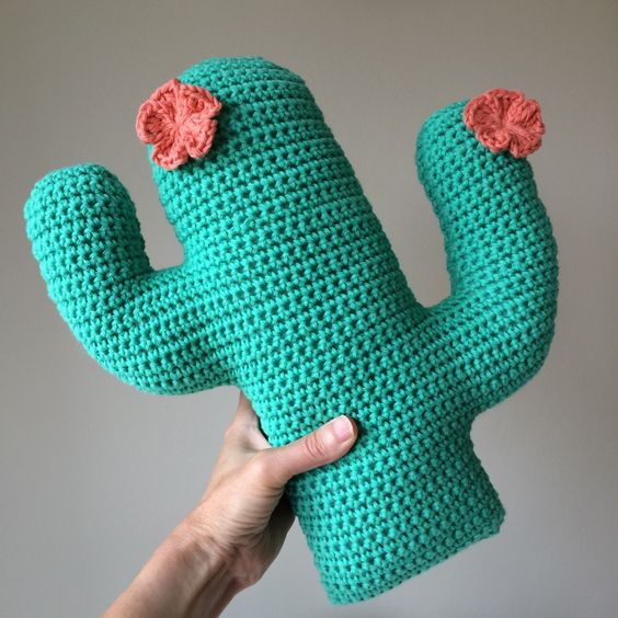 Flower Cactus Cushion Crochet Pattern: