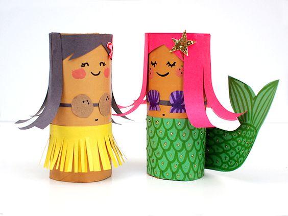 manualidades recicladas para niños: