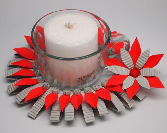 Centerpieces for Christmas made from Kokoru - Color Corrugated Ichi & ichigo.: