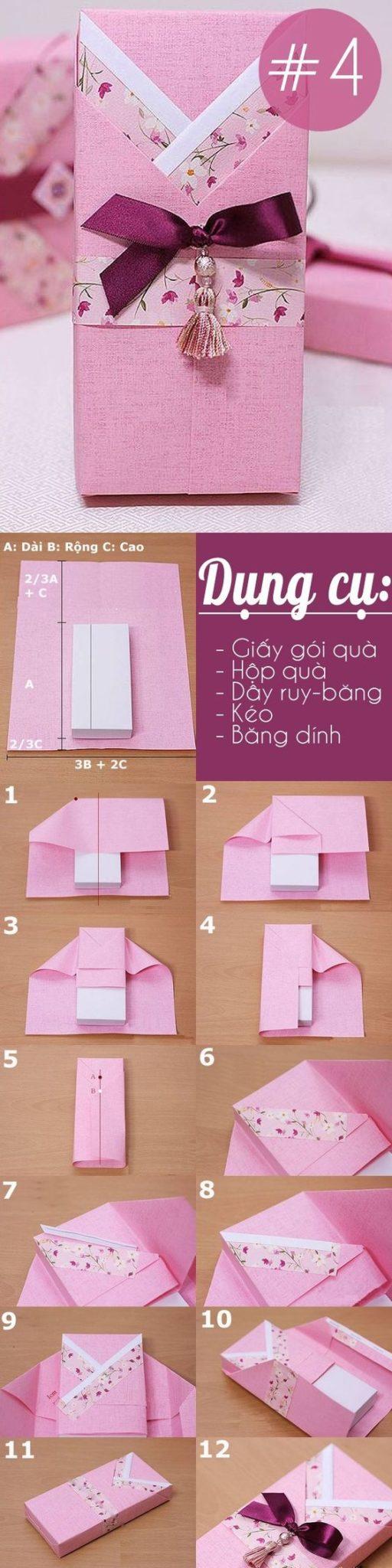 Envuelve un regalo con cintas de washi tape