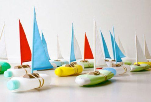 Juguetes reciclados para la playa y el jardín. (16):