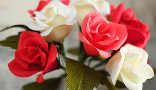 35 ideas fáciles con Flores de papel crepe