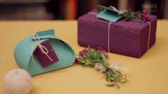 Caja de cartón corrugado - Las Manualidades: