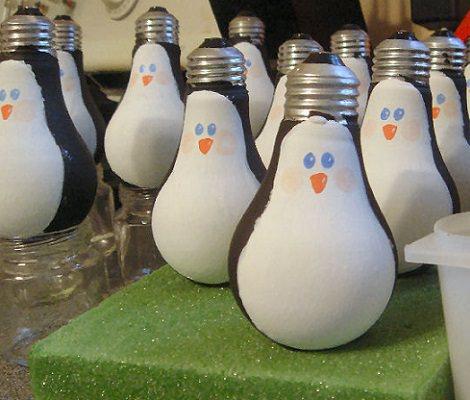 Resultado de imagen de Pingüinos con bombillas