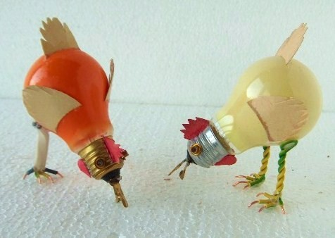 bonitas ideas para reciclar bombillos para decorar