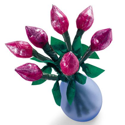 conjunto de flores de papel de celofan