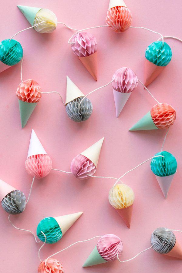 decoracion de fiestas recicladasg¡ guirnaldas