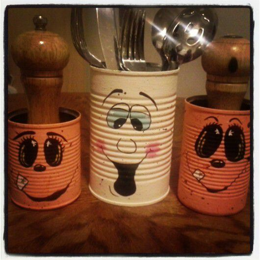 decoracion de halloween reciclada con latas