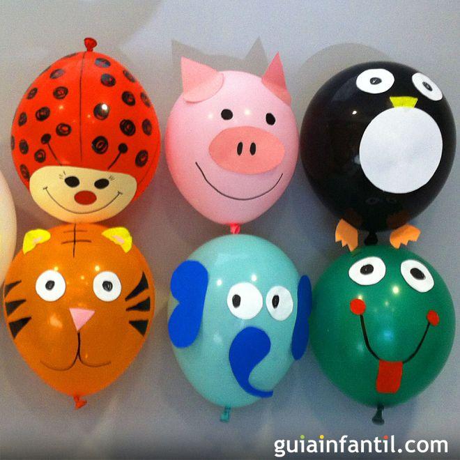 decoracion reciclada para fiestas con globos