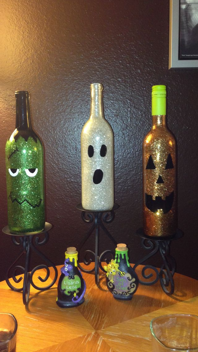 decorar reciclando para halloween con botellas