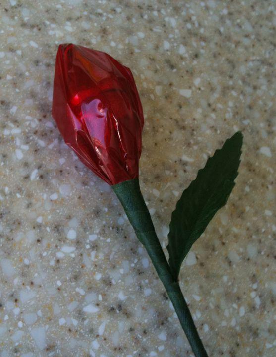 flor de papel de celofan facil