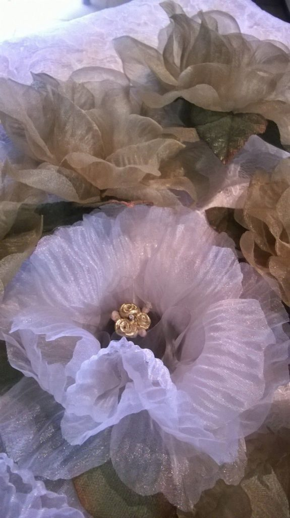 flor en papel vegetal