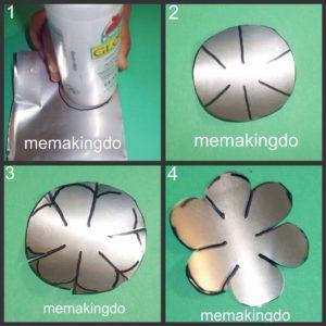 flores con latas de aluminio