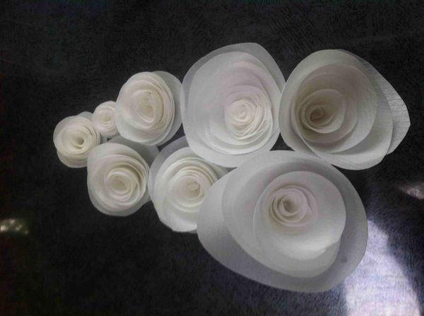 flores con papel de arroz