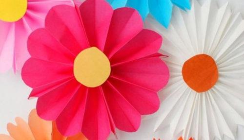 3 ideas de flores de papel fáciles