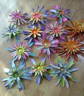 flores de papel metalico