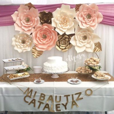 34 sencillas ideas de flores de papel para decoración
