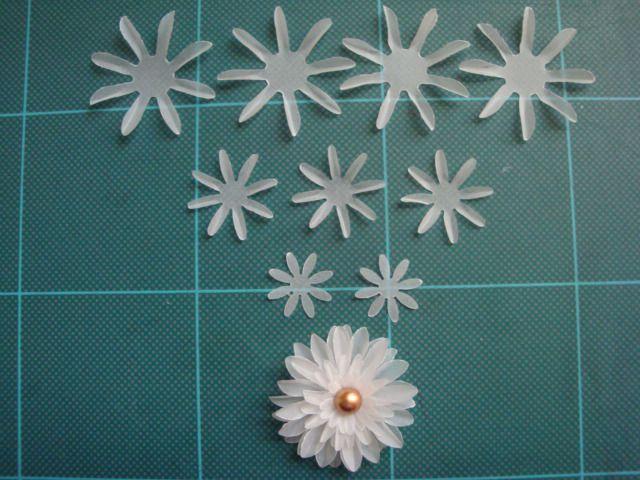 flores de papel vegetal a pasos