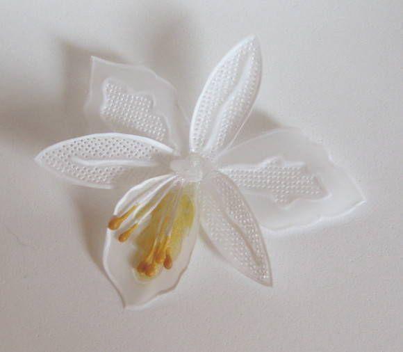 flores en papel vegetal