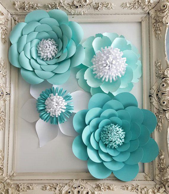 flores papel para decorar