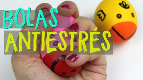 Pelota antiestrés casera con globos