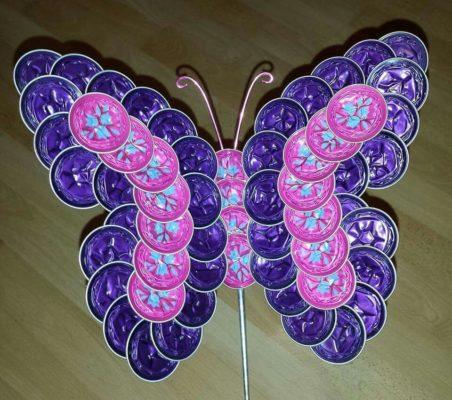 9 fáciles Mariposas con cápsulas de Café