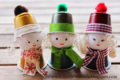 Muñecos con cápsulas nespresso