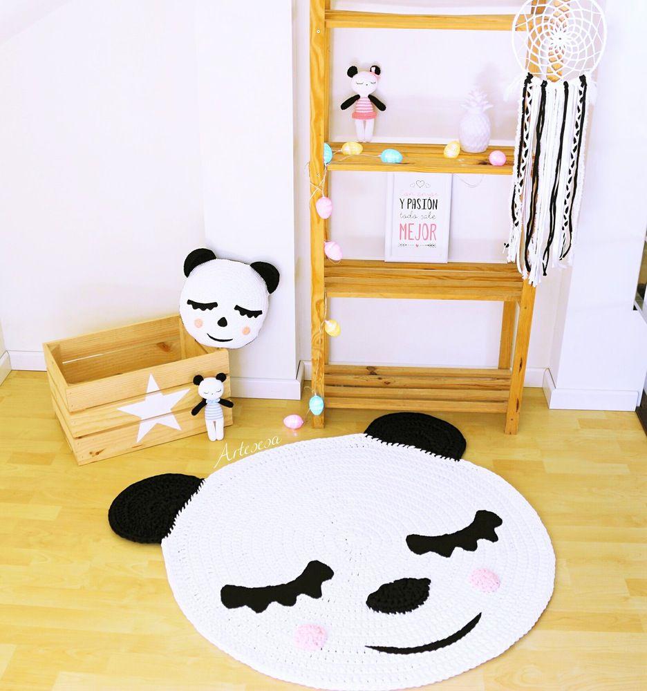 alfombras de crochet para niños