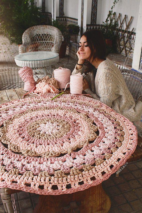 alfombras de crochet paso a paso