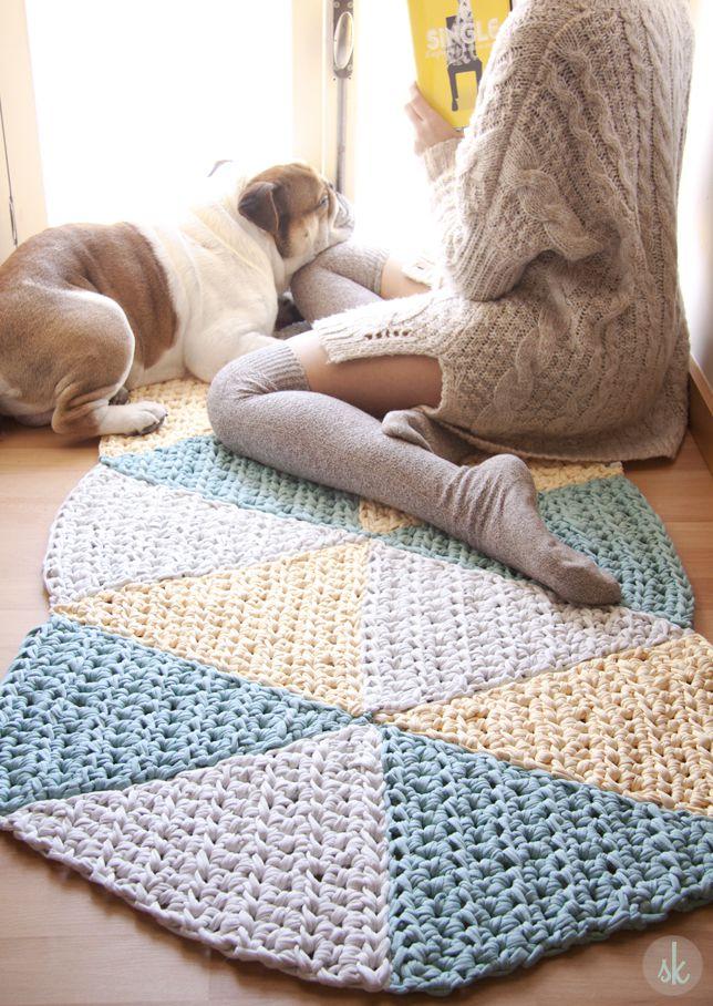 alfombras de crochet patrones