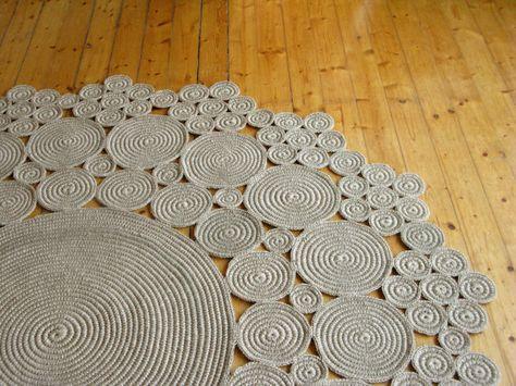 alfombras de ganchillo