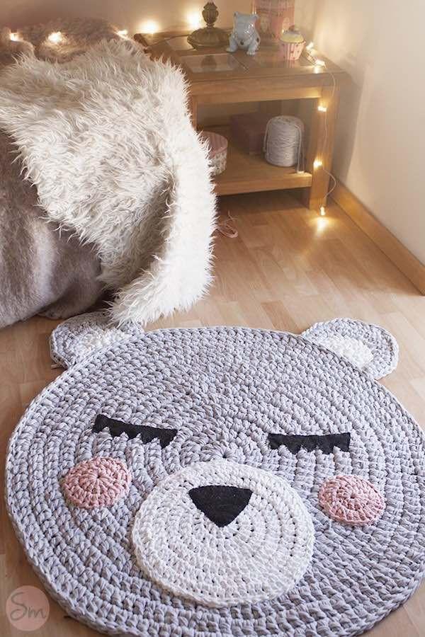 alfombras de ganchillo para niños